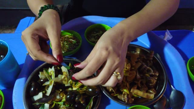 snail food in hai phong - traditionally vietnamese stock videos & royalty-free footage