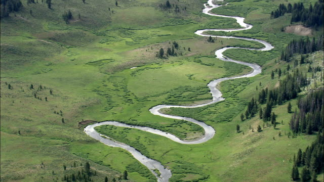 Snake River  - Aerial View - Wyoming,  Teton County,  helicopter filming,  aerial video,  cineflex,  establishing shot,  United States