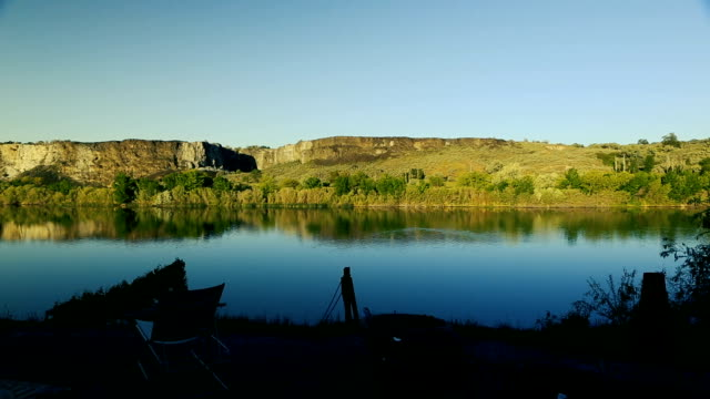 snake river at dusk patio view - river snake stock videos & royalty-free footage