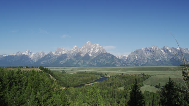 snake river, grand teton np, usa - grand teton stock-videos und b-roll-filmmaterial
