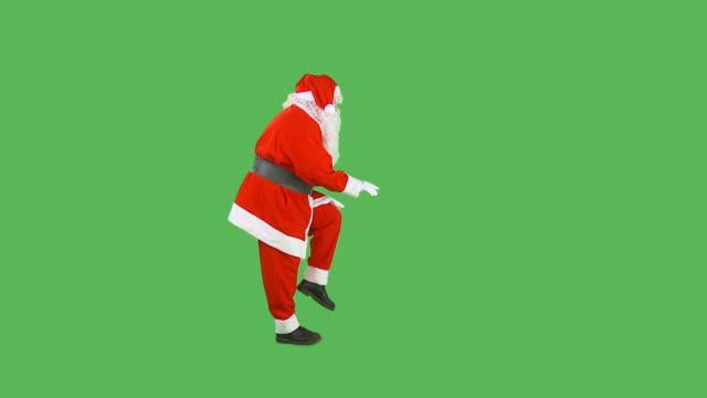 hd: wirkungsvoll santa - auf den zehenspitzen stock-videos und b-roll-filmmaterial