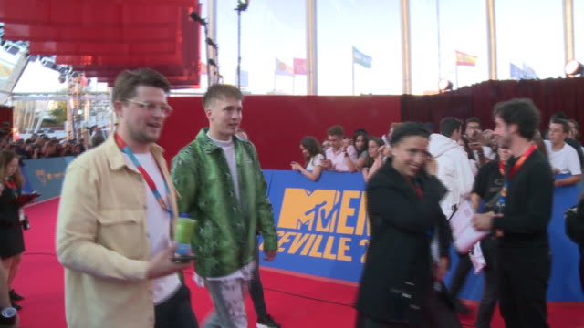 snelle attends the mtv emas 2019 at fibes conference and exhibition centre in seville - mtv europe music awards stock videos & royalty-free footage