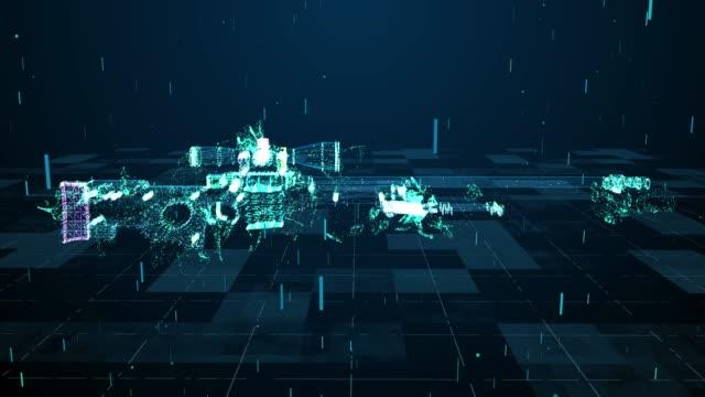 スナイパーライフル技術とデジタル解析4k - big data点の映像素材/bロール