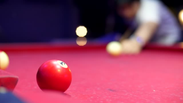 snook shot down the pits,slomo - pool cue sport stock videos & royalty-free footage