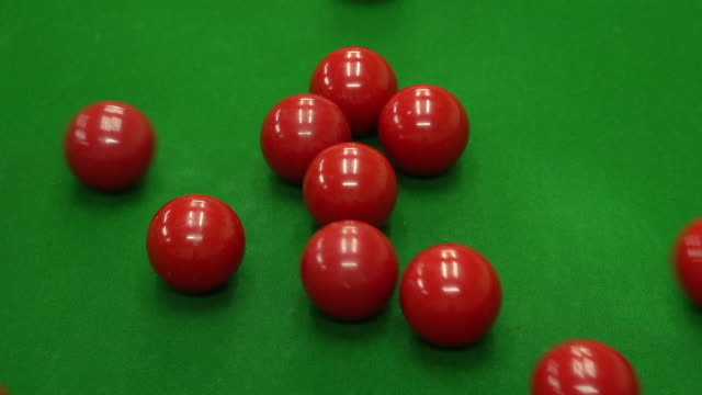 snooker balls in snooker club - cue ball stock videos & royalty-free footage