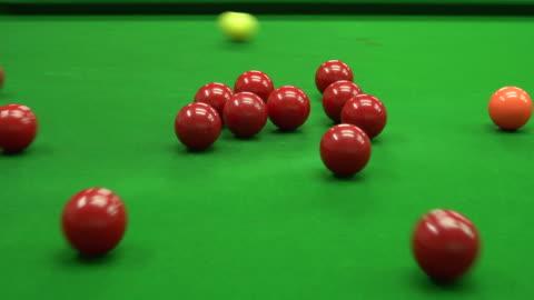 スヌーカー クラブのスヌーカー ボール - キューボール点の映像素材/bロール