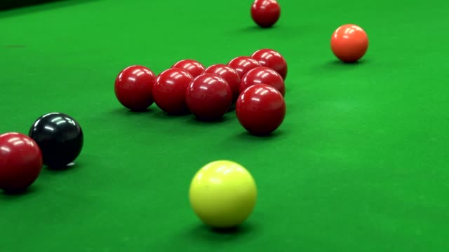 snooker balls in snooker club - pool cue sport stock videos & royalty-free footage