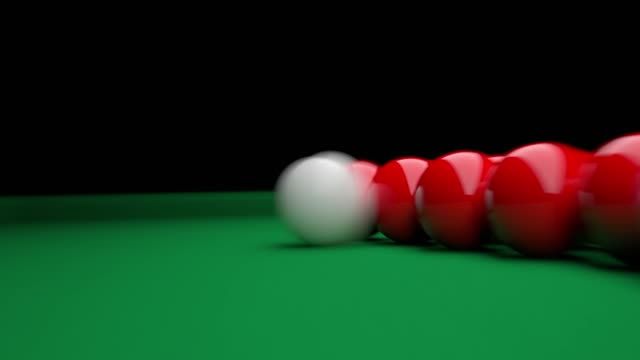 snooker first shot from variety of angles - world sports championship stock videos & royalty-free footage