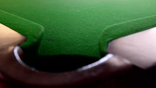 スヌーカーショット - キューボール点の映像素材/bロール