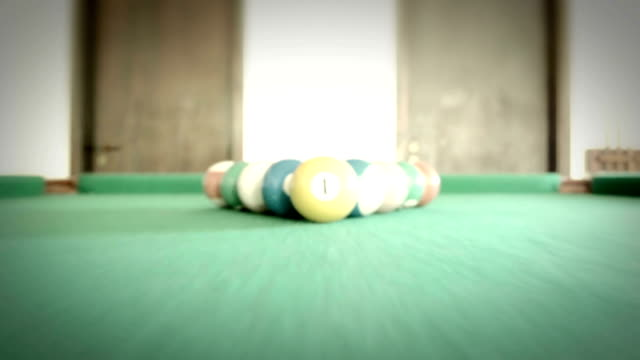 snooker view shot - cue ball stock videos & royalty-free footage