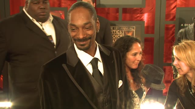 Snoop Dog on his favorite action movie at the 2008 Critics' Choice Awards at Santa Monica Civic Auditorium in Santa Monica California on January 7...