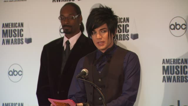 Snoop Dogg and Adam Lambert announce the 2009 American Music Awards Nominations at the 2009 American Music Awards Nomination Announcements at Beverly...