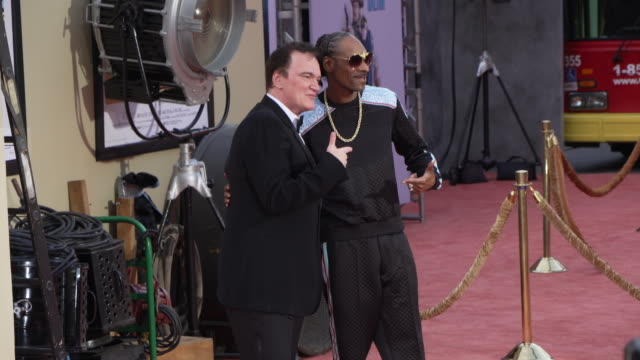 """snoop dogg and quentin tarantino at the """"once upon a time in hollywood"""" premiere at tcl chinese theatre on july 22, 2019 in hollywood, california. - tcl chinese theatre stock videos & royalty-free footage"""