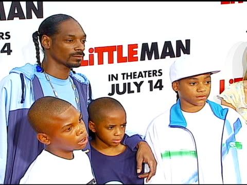 snoop dogg at the 'little man' premiere at the mann national theatre in westwood california on july 6 2006 - mann national theater stock videos and b-roll footage