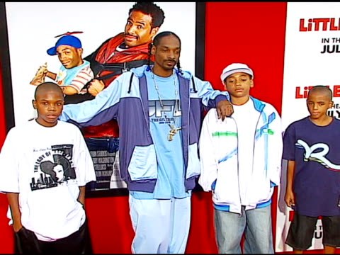snoop dogg at the 'little man' premiere at the mann national theatre in westwood california on july 6 2006 - mann national theater stock videos & royalty-free footage