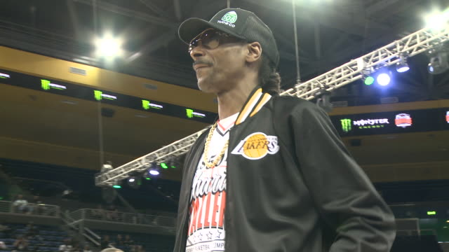 snoop dogg at the monster energy $50k charity challenge celebrity basketball game in los angeles, ca 7/8/19 - snoop dogg stock videos & royalty-free footage