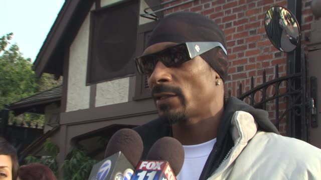 snoop dogg at the we are the world 25th anniversary recording for haitian earthquake relief at los angeles ca - 25th anniversary stock videos and b-roll footage