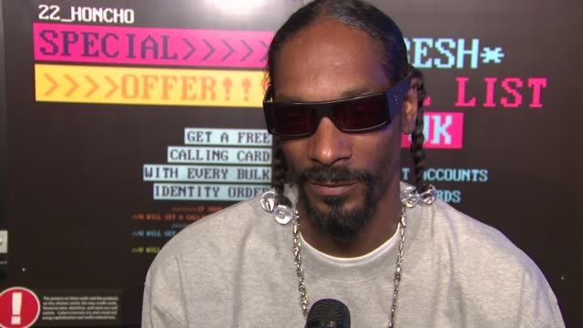 snoop dogg on his upcoming album. at the norton black market truck tour with snoop dogg at new york ny. - snoop dogg stock videos & royalty-free footage