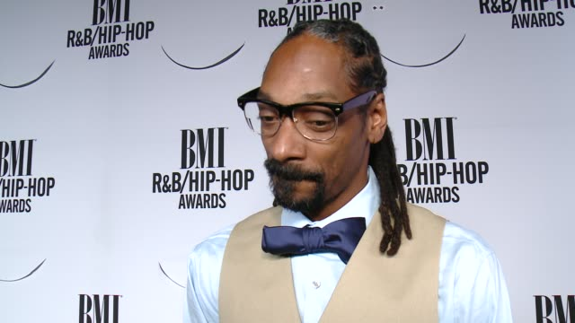 INTERVIEW Snoop Dogg on the event on his inspirations on Nile Rodgers on BMI and on 'Straight Outta Compton' at the 2015 BMI RB/HipHop Awards at...