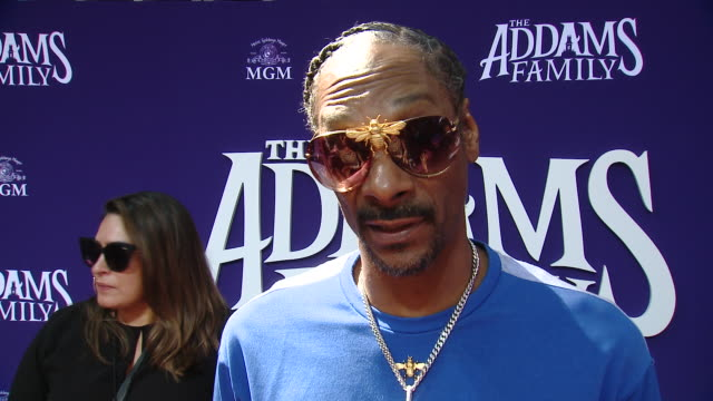 """snoop dogg on the movie and its legacy at """"the addams family"""" los angeles premiere in los angeles, ca 10/6/19 - snoop dogg stock videos & royalty-free footage"""