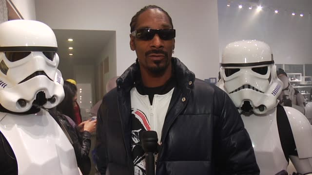 snoop dogg on today's launch at the snoop dogg & stormtroopers launch adidas originals x star wars collection at new york ny. - snoop dogg stock videos & royalty-free footage