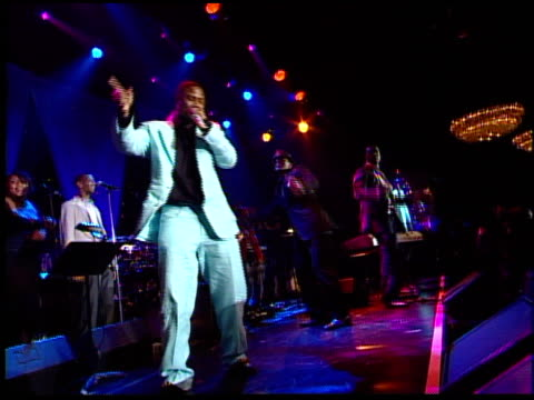 snoop dogg performs at the clive davis' pre-grammy awards party concert at the beverly hilton in beverly hills, california on february 7, 2006. - snoop dogg stock videos & royalty-free footage