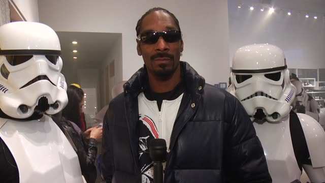 snoop dogg & stormtroopers launch adidas originals x star wars collection, new york, ny, . - snoop dogg stock videos & royalty-free footage