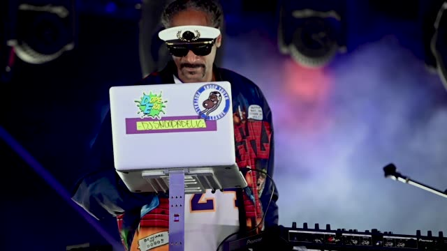 snoopadelic performs onstage during the 'concerts in your car's' drive-in concert at ventura county fairgrounds and event center on october 02, 2020... - snoop dogg stock videos & royalty-free footage