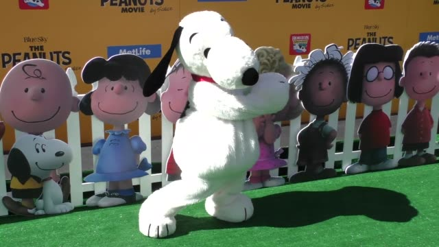 Snoopy at The Peanuts Movie Premiere at Regency Village Theatre in Westwood on November 01 2015 in Los Angeles California