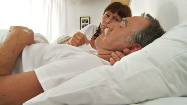 hd: snoring husband - snoring stock videos and b-roll footage