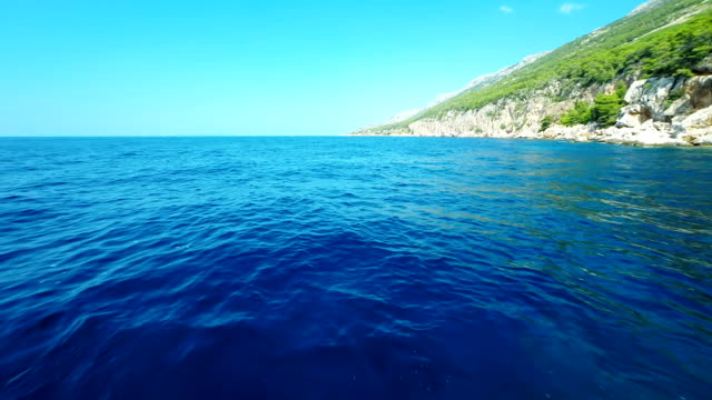 AERIAL Snorkeling Near The Island Hvar