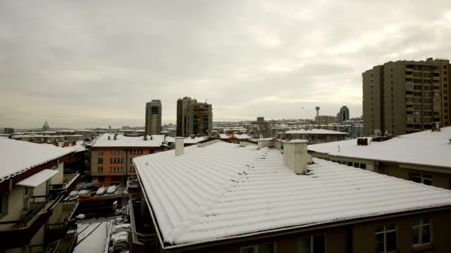 Snow At Ankara in winter at December 1/6