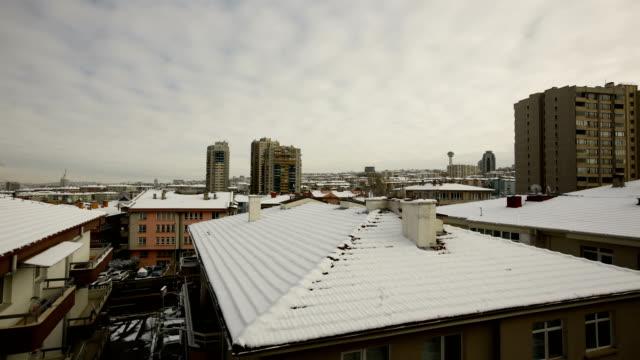 Snow At Ankara in winter at December 2/6