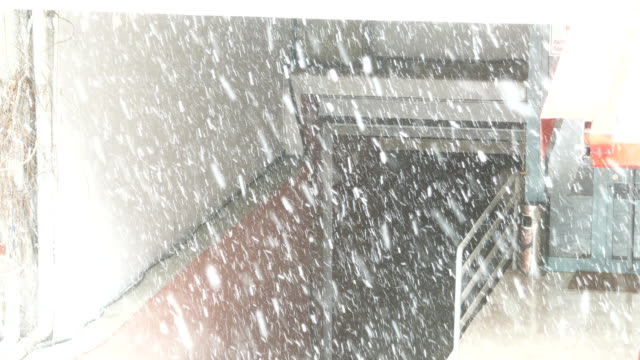 snow at ankara in winter - garage - ankara stock videos and b-roll footage