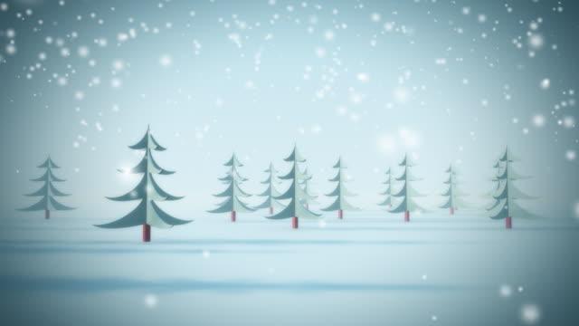 Snow background. Loop