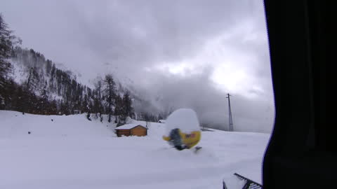 snow being cleared at a ski resort - ski resort stock videos & royalty-free footage