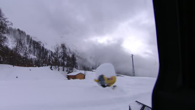 snow being cleared at a ski resort - italy stock videos & royalty-free footage