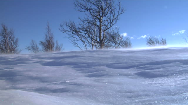 snow blow 01 - snowcapped mountain stock videos and b-roll footage