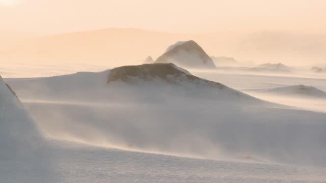 snow blowing across icy landscape, dartmoor, uk - dartmoor stock videos & royalty-free footage
