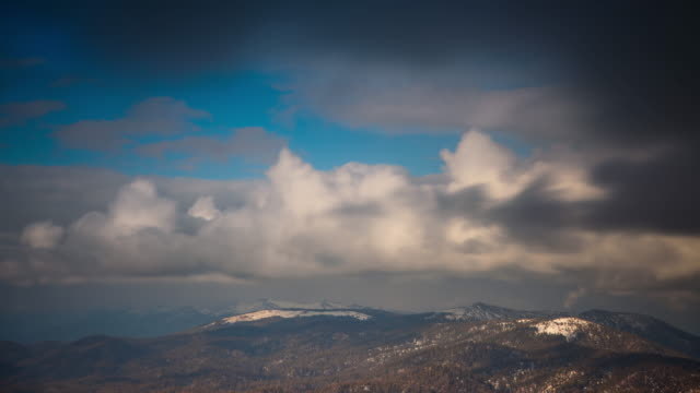 Snow Capped California Mountains- Time Lapse