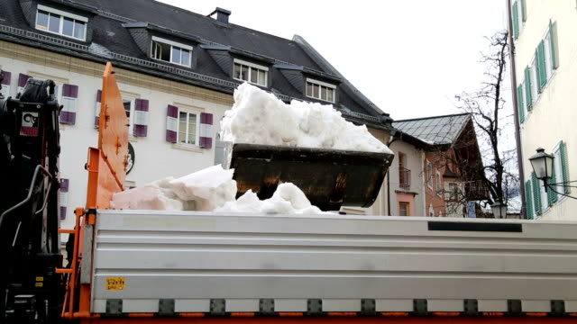 snow cleaning with special vehicles - dump truck stock videos and b-roll footage