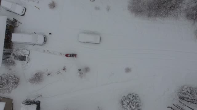 snow clearing - driveway stock videos and b-roll footage