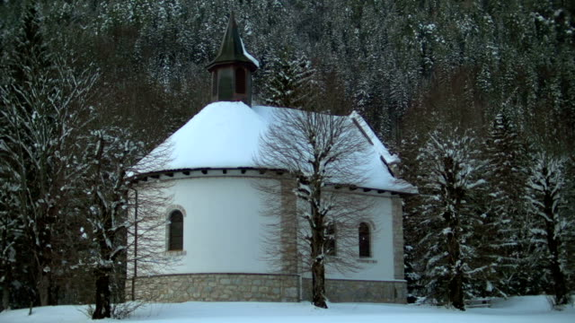 snow covered church - peter snow stock videos & royalty-free footage