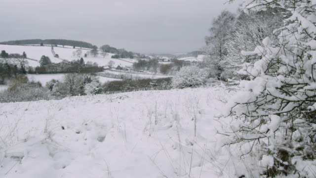 snow covered countryside and hills, bristol, england - winter stock videos & royalty-free footage