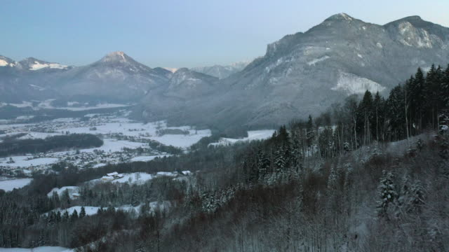 snow covered forested mountains - bavaria stock videos & royalty-free footage