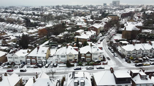snow covered homes - roof stock videos & royalty-free footage