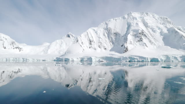 snow covered mountains - antarctic peninsula stock videos & royalty-free footage