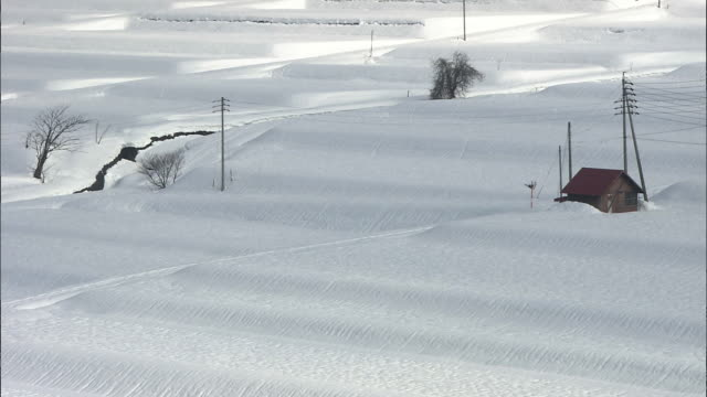 Snow Covered Nozawa Onsen Village, Nagano, Japan