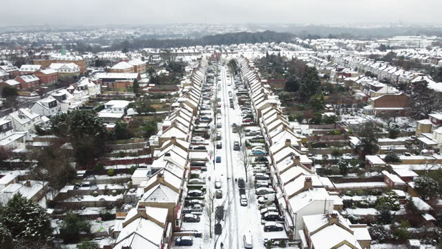 snow covered street - snow stock videos & royalty-free footage