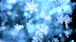 Snow crystals falling (dark) - Loop